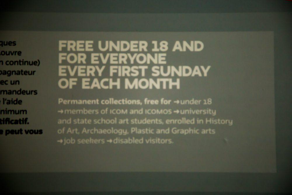 gratis entree op de eerste zondag van de maand